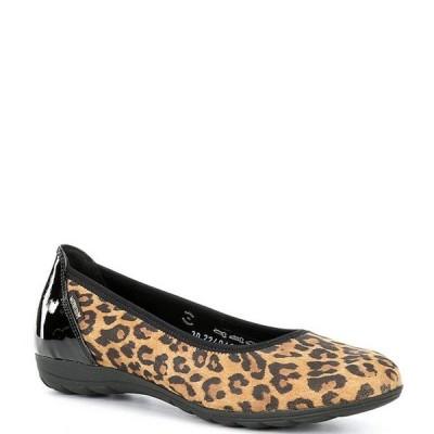メフィスト レディース パンプス シューズ Emilie Leopard Print Leather Ballet Flats