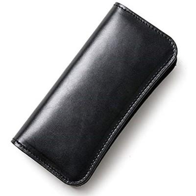 栃木レザー本革 長財布 職人手作り 日本製 BLACK(ブラック)