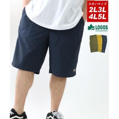 【大きいサイズのマルカワ】 ロゴス ロゴ 刺繍 大きいサイズ ハーフパンツ メンズ ネイビー XL(LL) MARUKAWA