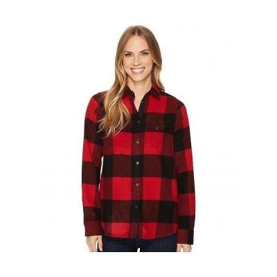 Fjallraven フェールラーベン レディース 女性用 ファッション ボタンシャツ Canada Shirt - Red