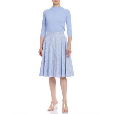 フレアスカート ブルー 40