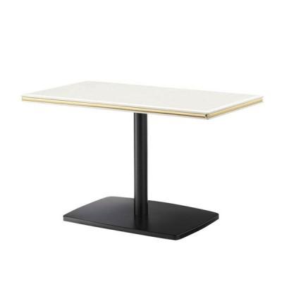 スナックテーブルクラブバーテーブル90×50大理石柄金銀モール装飾入天板2種類 業務用 st965a-bt328o