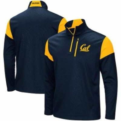Colosseum コロセウム スポーツ用品  Colosseum Cal Bears Navy Luge Quarter-Zip Pullover Jacket