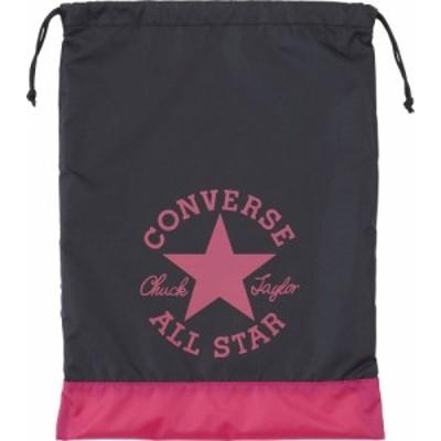 CONVERSE(コンバース) スポーツバッグマルチバッグ星かわいいアンクルパッチランドリーバッグブラック/マゼンタ (con-c1912094-1963)