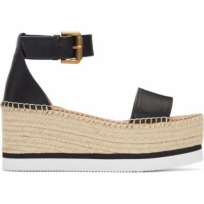 クロエ See by Chloe レディース サンダル・ミュール シューズ・靴 black glyn platform sandals Black