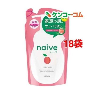 ナイーブ ボディソープ 桃の葉エキス配合 詰替用 ( 380ml*18袋セット )/ ナイーブ