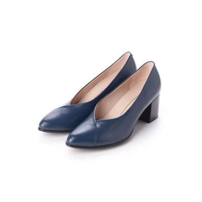 エコー ECCO SHAPE 45 POINTY BLOCK Shoe (TRUE NAVY)