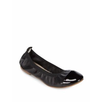 サックスフィフスアベニュー レディース フラットシューズ Elasticized Leather Ballet Flats