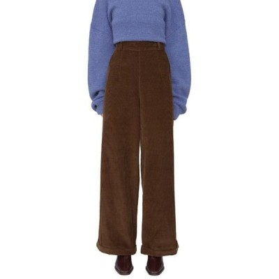 somedayif レディース パンツ Provider corduroy roll-up trousers