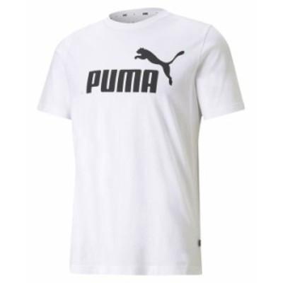 プーマ メンズ Tシャツ トップス Men's Essential Logo T-Shirt White