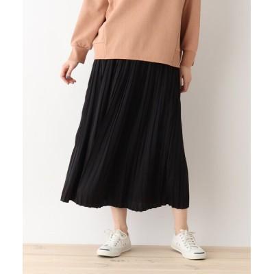 SHOO・LA・RUE / サテンプリーツスカート WOMEN スカート > スカート