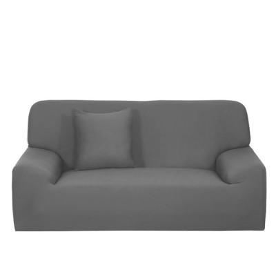 uxcell スリップカバー 家庭 家具 椅子 ソファ カウチ ストレッチ プロテクター カバー スリップカバー グレー 193-228cm