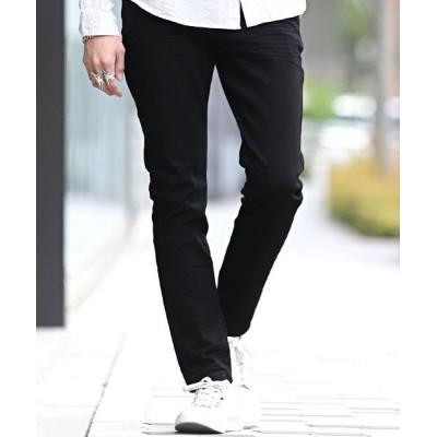 【ラグスタイル】 ストレッチデニムスキニーパンツ/スキニー デニム メンズ アンクル ストレッチ ジーンズ パンツ メンズ ブラック L LUXSTYLE