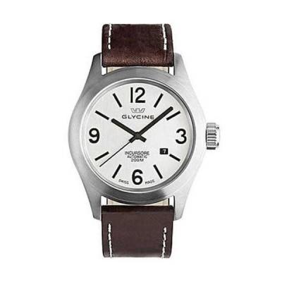 腕時計 グリシン Glycine Incursore オートマチック スチール メンズ ブラウン ストラップ 腕時計 デート 3874.11 LB7BF