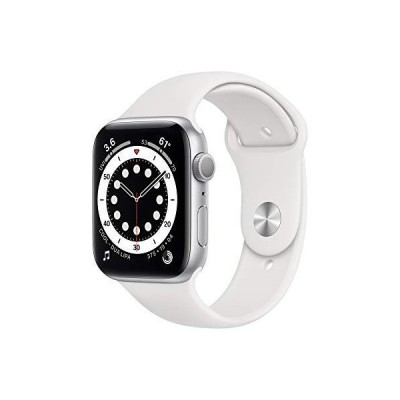 New Apple?Watch Series 6 (GPS, 44mm) - Silver Aluminum Case with White Sport Band