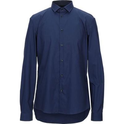 ヴェルサーチ VERSACE COLLECTION メンズ シャツ トップス solid color shirt Dark blue