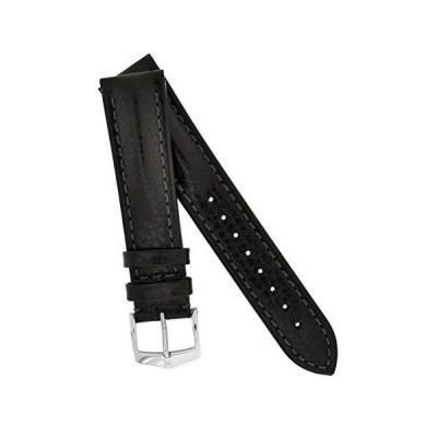 ヒルシュ 腕時計レザーベルト 革 カーフ 多数 20 22 24 mm 3色 h025 LUCCA-BK20 [並行輸入品]