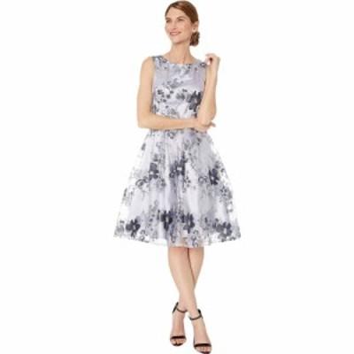 タハリ Tahari by ASL レディース パーティードレス ワンピース・ドレス Petite Embroidered Fit-and-Flare Party Dress