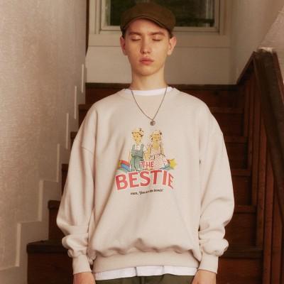[MAINBOOTH公式] The Bestie Sweatshirt(LIGHT BEIGE)
