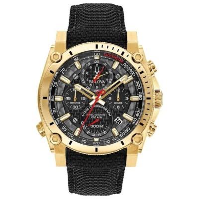ブローバ Bulova 男性用 腕時計 メンズ ウォッチ クロノグラフ ブラック ゴールド 97B178