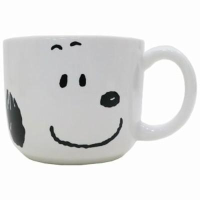 スヌーピー マグカップ 磁器製マグ シンプルフェイス ピーナッツ キャラクター グッズ