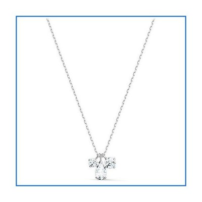 SWAROVSKI Attract Cluster Pendant Necklace Silver One Size[並行輸入品]