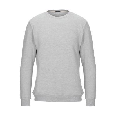 プラスピープル (+) PEOPLE スウェットシャツ ライトグレー L コットン 100% スウェットシャツ