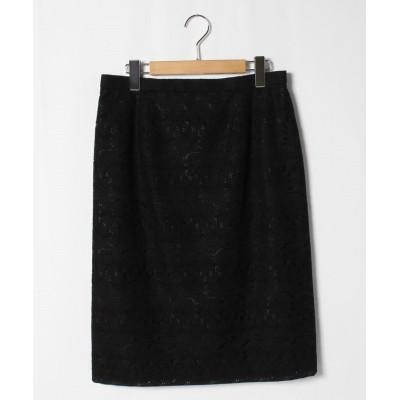 【ゲスト ジョコンダ】 花柄刺繍スカート レディース ブラック 44 GUEST JOCONDE