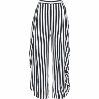 ステラ マッカートニー Stella McCartney レディース ボトムス・パンツ Alicia striped high-rise silk pants Black