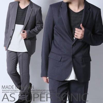 ジャケット メンズ テーラードジャケット ビジカジ きれいめ 大人め 日本製 ブラック ネイビー AS SUPER SONIC