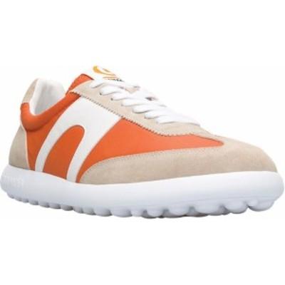 カンペール メンズ スニーカー シューズ Men's Camper Pelotas XLF Nubuck/Fabric Sneaker Orange/Multi Nubuck/Textile