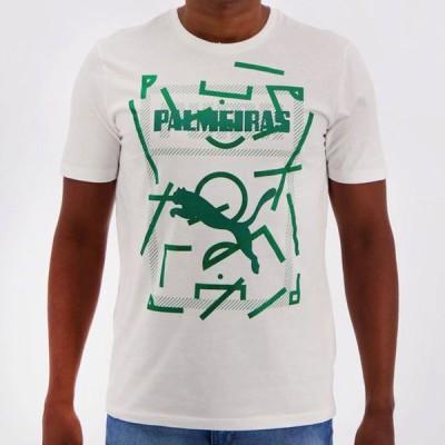 パルメイラスグラフィックデザインTシャツ ホワイト【PALMEIRAS公式】PUMA