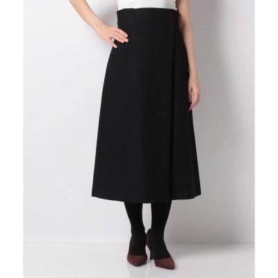 JOCONDE ROYAL / ジョコンダロイヤル シェトランドウールツイード ラップ風スカート