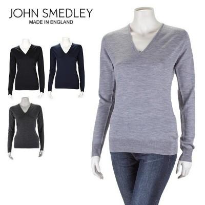 ジョンスメドレー John Smedley Vネック セーター オーキッド Orchid WOMEN レディース ウール 長袖 ニット スリムフィット シンプル