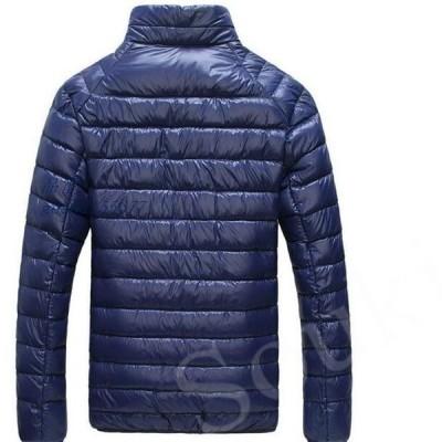 メンズファッション ダウンコートメンズ軽量ショートコートスリムアウター防寒防風カジュアルあったか紳士用