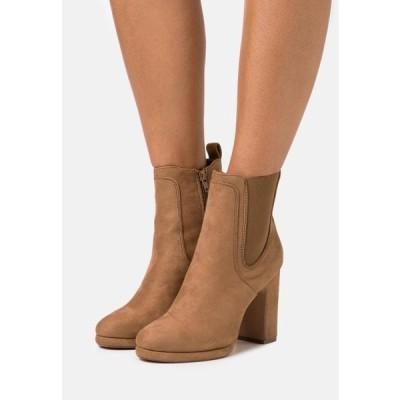 アンナフィールド レディース ブーツ High heeled ankle boots - camel