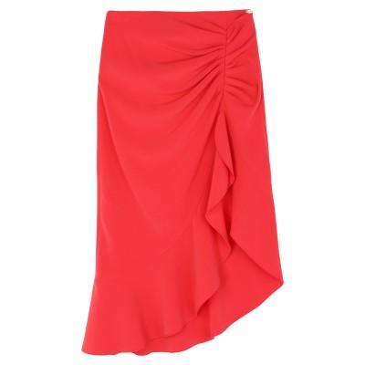 ELISABETTA FRANCHI ひざ丈スカート レッド 44 ポリエステル 89% / ポリウレタン 11% ひざ丈スカート