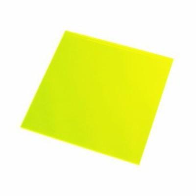 光 アクリル板 蛍光緑 100mm×100mm×2mm KA-103