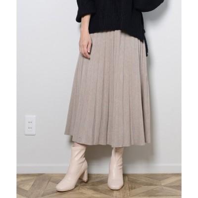 スカート ニットフレアスカート