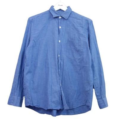 【6月20日値下】COMOLI ベタシャンコモリシャツ サックスブルー サイズ:1 (新宿店)