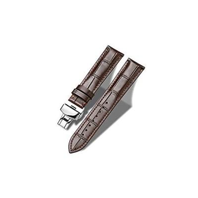 特別価格Moran 本革バンド アリゲーターと牛革交換用展開バックル 腕時計ストラップ 18mm~24mm クロコダイルレザーストラップ 男女兼用, 22mm好評販売中