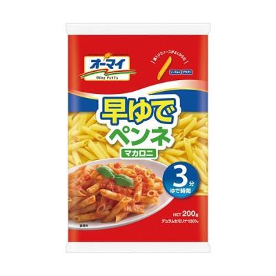 日本製粉 オーマイ 早ゆでペンネマカロニ 200g 1パック