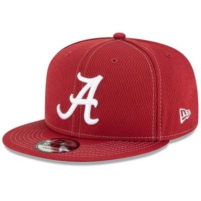 ユニセックス スポーツリーグ アメリカ大学スポーツ Alabama Crimson Tide New Era Sideline Road 9FIFTY Adjustable Snapback Hat - C