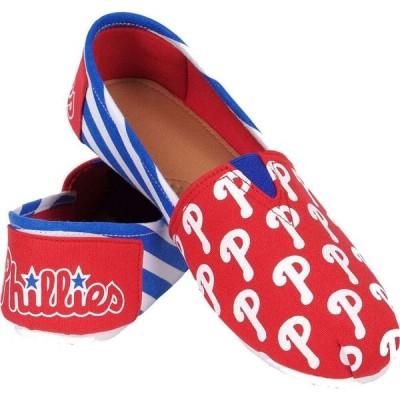 フォコ FOCO メンズ シューズ・靴 Philadelphia Phillies Striped Canvas Shoes