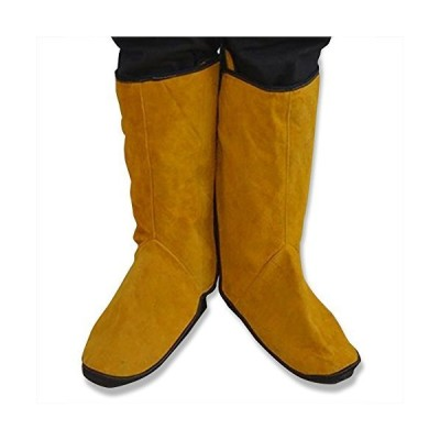 NUZAMAS牛革溶接保護靴フィートカバー溶接機の1対