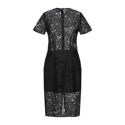 DORIS S ミニワンピース&ドレス ブラック 40 レーヨン 45% / ポリエステル 30% / コットン 25% ミニワンピース&ドレス