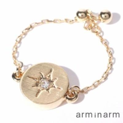 スターチェーンリング 指輪 レディース ブランド おしゃれ  リング チェーン 星 arm in arm アームインアーム セール 送料無料