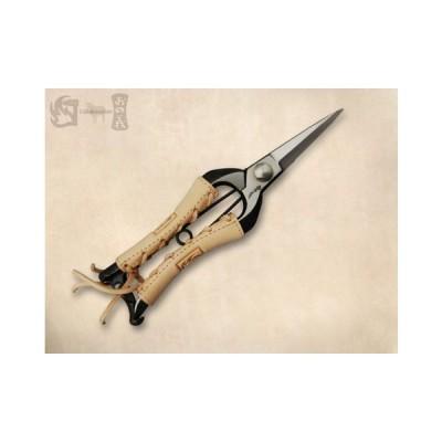 双刃型両刃芽切鋏 8インチ金止(本革巻) みきかじや村 TS062