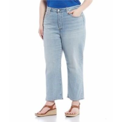リーバイス レディース デニムパンツ ボトムス Plus Size Ribcage Button-Fly Straight Leg Ankle Jeans Here Nor There
