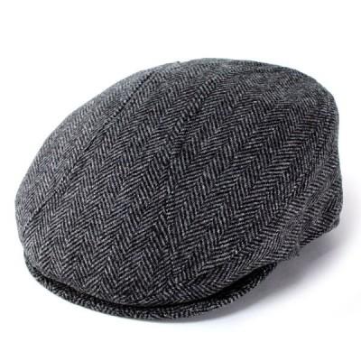 """帽子 ハンチング帽 メンズ 帽子 ハンチング ニューヨークハット 秋冬 Herringbone""""1900"""" 9333 グレー"""